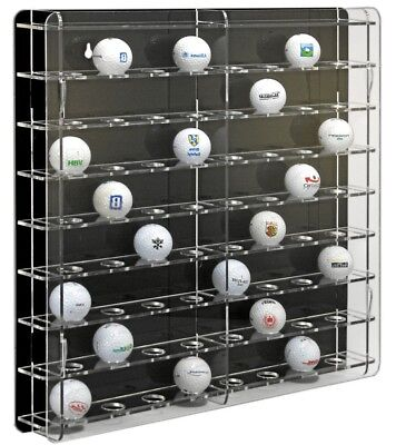 SORA Golf Ball Display Cabinet, Back-Panel: Black, For 64 Golf-Balls • 48.90£