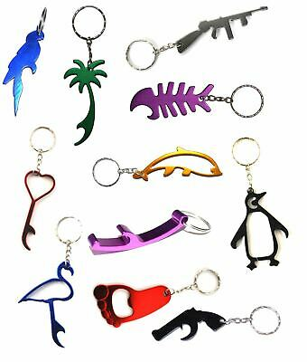 £2.95 • Buy Keyrings Metal Colour Keychain Mixed Designs Stocking Filler Xmas Bottle Openers