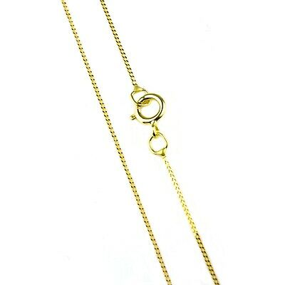 £29.45 • Buy 18 Inch Fine Trace Chain Curb Style In 9ct Yellow Gold