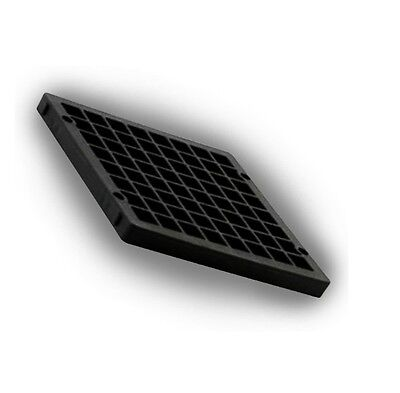 2 X  STANDARD SIZE 6  BLACK DRAIN COVER 150mm SQUARE Grid Drainage Cover Top Lid • 4.99£