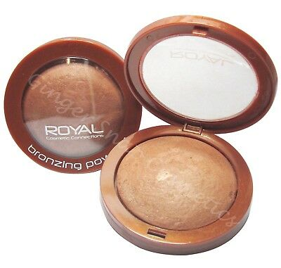 Royal BAKED BRONZER Bronzing Compact Pressed Powder Sunkissed Bronze Look NEW • 3.49£
