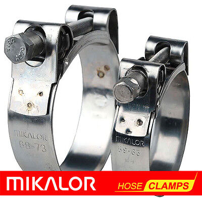 £0.99 • Buy MIKALOR W2 Stainless Steel Hose Clamps / Supra / Exhaust / T Bolt / Marine Clip