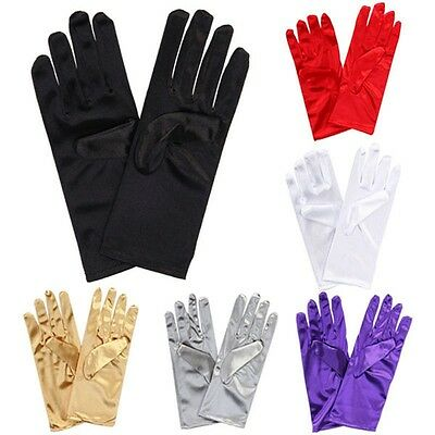 £3.99 • Buy Ladies Short Wrist Gloves Smooth Satin For Party Dress Prom Evening Wedding