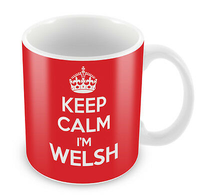 £6.99 • Buy KEEP CALM I'm Welsh - Coffee Cup Gift Idea Present Wales Xmas Country