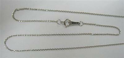 AU79.99 • Buy 40cm Genuine 9ct 9K 375 Solid White Gold Chain Necklace - 30 Day Refunds