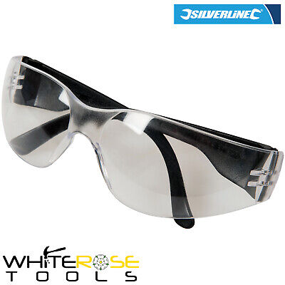 Silverline Safety Glasses Clear Wraparound UV Impact Scratch Resistant Lens • 6.55£