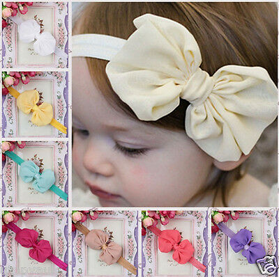 £1.99 • Buy Cute Adorable Children Baby Bow Headband Soft Elastic Hair Accessories Band New