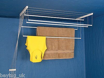 £29.90 • Buy New Clothes Ceiling Pulley Airer, Dryer, Drying Rack, From 5m To 8m Drying Space