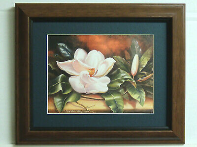 $34.95 • Buy Magnolia Flower Picture Matted Framed 8x10
