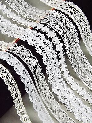 £0.99 • Buy NARROW 10-20mm LACE RIBBON TRIM White Bridal Shabby Chic Cards Sewing Florist