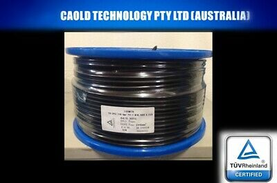 AU289.99 • Buy 100 Meter Roll 6mm Twin Core Solar Power Cable PV Photovoltaic 100m