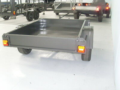 AU690 • Buy 6x4 Box Trailer With Check Plate Floor | Brand New Rim & Tyres | Australia Made