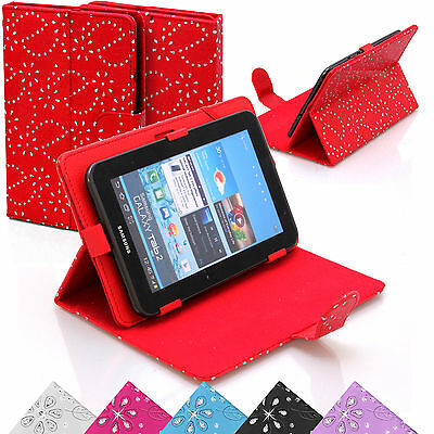 £5.99 • Buy Universal Leather Stand Diamante Diamond Case Cover Pouch For 9 10 Inch Tablets