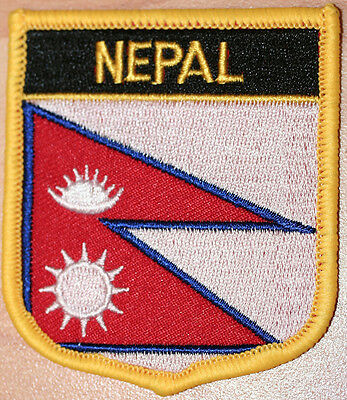 NEPAL Shield Country Flag Embroidered PATCH Badge P1 • 3.25£