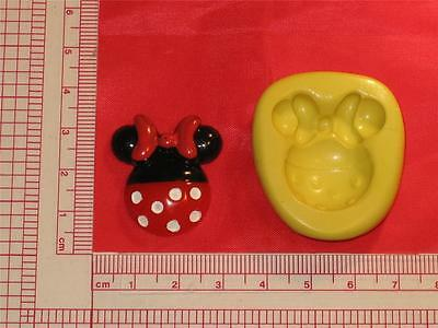 Minnie Mouse 2D Silicone Mold Food 705 Cake Topper Candy Resin Clay Flexible • 2.43£