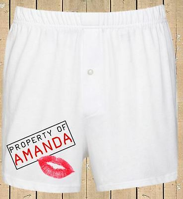 Personalised Mens Boxer Shorts Funny Birthday Stag Wedding Gift Property Of  • 6.99£