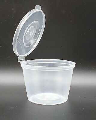 £9.99 • Buy GSL 100 X 100ml 4oz Plastic Food Grade Storage Containers With Hinged Lids (4WL)