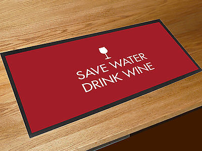 £15.45 • Buy Save Water Drink Wine Quote Bar Runner Pubs Clubs & Cocktail Bars