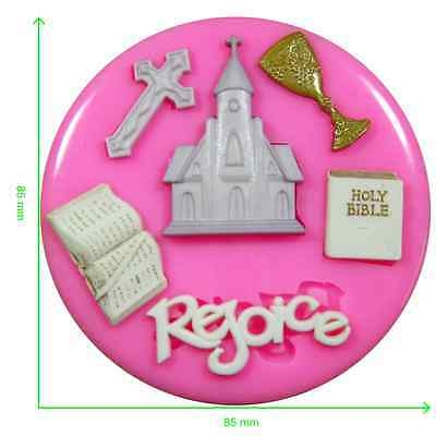 £6.50 • Buy First Holy Communion Church Cross Religion Silicone Mould By Fairie Blessings