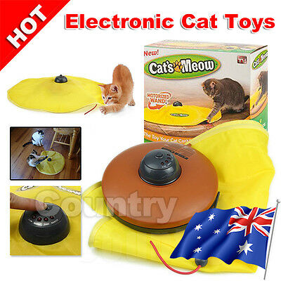 AU19.95 • Buy AU Electronic Interactive Cats Cat's Meow Toys Undercover Fabric Moving Mouse