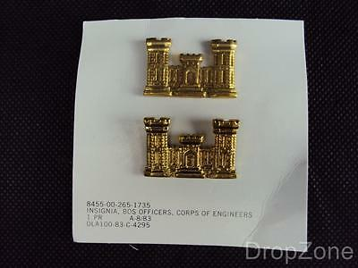 NEW US Army / Military Corps Of Engineers Collar Badges Insignia • 5.99£