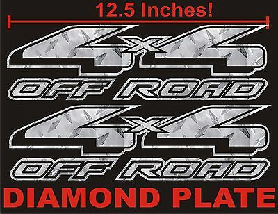 $9.89 • Buy 4x4 OFFROAD Truck Decal Set DIAMOND PLATE CHROME For Ford F150 & Super Duty