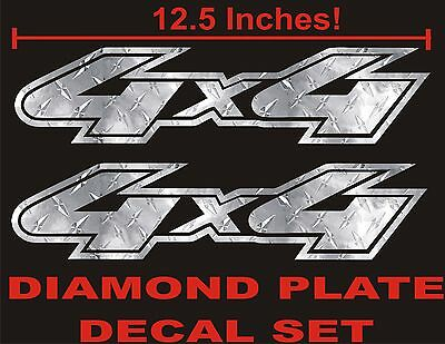 $11.99 • Buy 4x4 Truck Decal Set DIAMOND PLATE CHROME For Ford F150 Super Duty Ranger