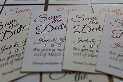 AU34.63 • Buy 50 Personalised Magnetic Save The Date Wedding Card With Envelopes Fridge Magnet