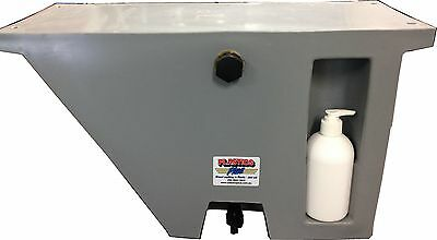 AU169 • Buy Vehicle Water Tank With Soap Dispenser (25L) Under Tray Ute Tank Angled RH GREY