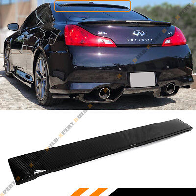 $129.99 • Buy Fits For Infiniti G37 2 Dr Coupe Real Carbon Fiber Rear Roof Spoiler Visor Wing