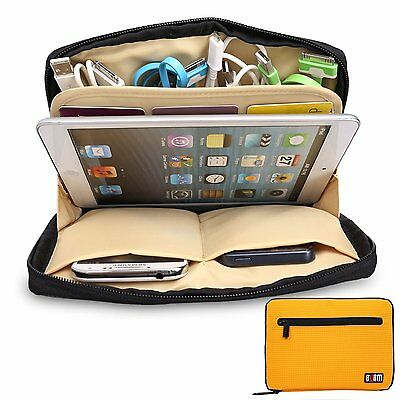 AU23.38 • Buy Yellow Universal Storage Accessories Travel Organiser IPad Air,Tablets,USB,Cable