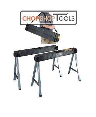 Stanley Sta197475 Folding Metal Leg Saw Horse Stand Twin Pack 1-97-475 • 70.65£
