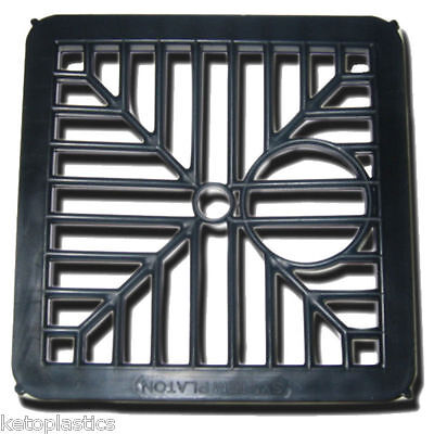 £2.29 • Buy Black Plastic Square Drain Gulley Grid Cover 150mm 6 Inch