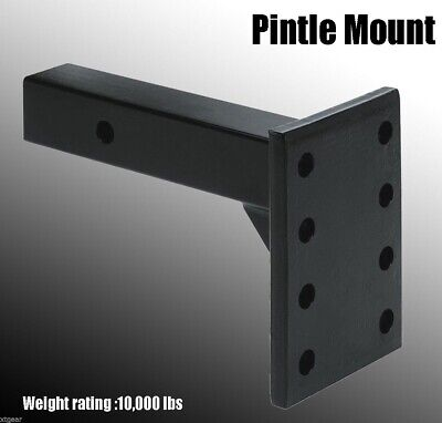 $39.99 • Buy HD 2  10,000 Lbs Trailer Truck Receiver Pintle Mount Hitch Adjustable Flat Plate