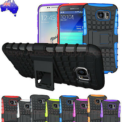 AU8.99 • Buy Shockproof Heavy Duty Case Tough Cover For Samsung Galaxy S6, S6 Edge, S5