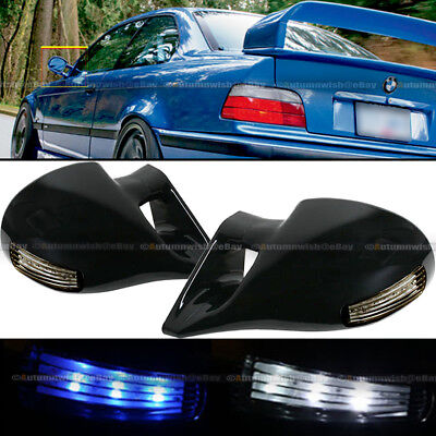 $38.99 • Buy For 01-05 Civic 2DR M-3 Style LED Signal Powered Glossy Black Side View Mirror
