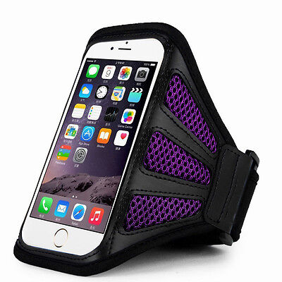 IPhone 6 Plus 5.5  Purple Mesh Running, Jogging, Cycling Armband Mobile Phone Co • 1.49£