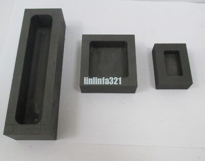 Gold Silver Graphite Ingot Mold Mould Crucible For Melting Casting Refining • 14.99£