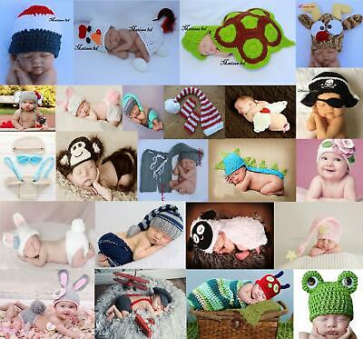 Newborn Baby Girl Boy Crochet Knit Costume Photo Photography Prop Hats Outfits • 4.99£