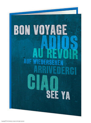 Leaving Bon Voyage Travel Goodbye Good Luck Greetings Card Funny Comedy Humour  • 1.25£