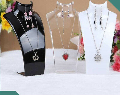 £8.99 • Buy 2X 210MM High Necklace Stand Jewellery Retail Shop Tall Display Busts Holder UK