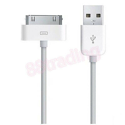 £2.98 • Buy 2 X ORIGINAL GENUINE USB DATA SYNC TRANSFER CHARGER CABLE FOR 30 PINS PHONE