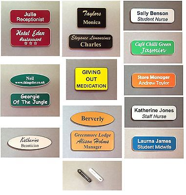 £1.40 • Buy Etched Name Badges With Brooch Pin Personal And Business, Clubs, Schools