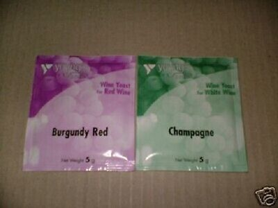 £4.38 • Buy Burgundy And Champagne Wine Yeast For Wine Making Brew. Each Makes 5 Gallons