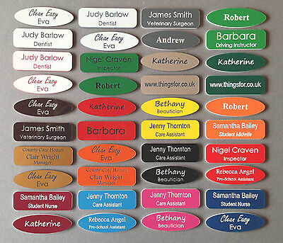 £1.40 • Buy Name Badges Acrylic Personalised Engraved Business Id Tags
