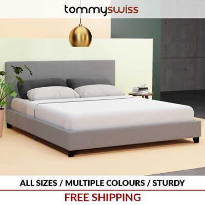 AU179 • Buy TOMMY SWISS: DELUXE King, Queen & Double Premium Fabric Bed Frame Multi Colours