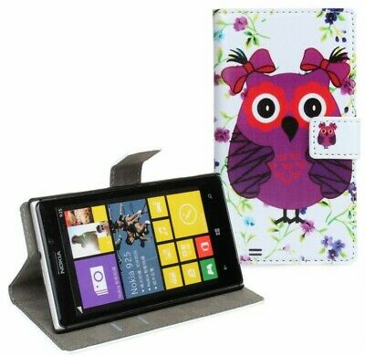 AU6.90 • Buy Owl Design Leather Wallet Money Card Case Cover Stand For Nokia Lumia 925