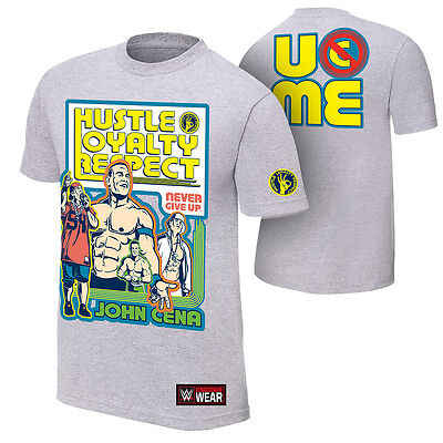Official WWE - John Cena  Throwback Grey  Authentic T-Shirt • 27.49£