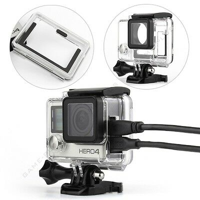 $ CDN15.06 • Buy Side Open Skeleton Protective Housing Case Cover Mount For GoPro Hero 4 Camera