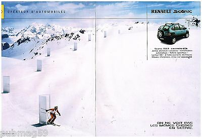 Publicité Advertising 2001 (2 Pages) Renault Scenic RX4 Salomon • 4.44£